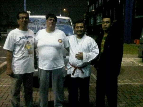 with Dentokan jujutsu Sensei Ben Haryo and Sambo master Sensei Saleh Sungkar