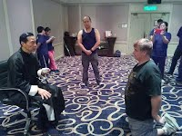 Trey Woodford  Bai Shi with Grandmaster Samuel Kwok to become his dusciple