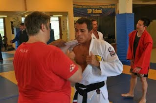 training BJJ with Prof Royler Gracie in Bali