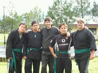 Konigun Ninjutsu green sash training camp, Sibolangit, Medan,  Indonesia, 2007