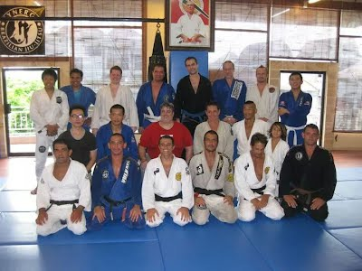 with synergy BJJ and Prof Royler Gracie in Bali