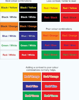 Here Are Some Colour Combinations To Give You An Idea Remember Readability Is Important Make Sure Your Colours Go Together Nicely