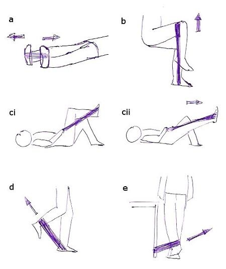 Hip thigh exercises active care physiotherapy clinic put the loop of exercise band under one foot and then stretch the loop of exercise band over your thigh then lift your leg off the floor and against the ccuart Image collections