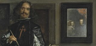 Detail of the King and Queen in Las Meninas