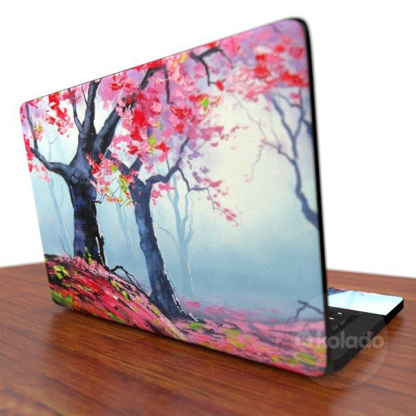 Imagem demonstrativa do adesivo skin para notebook ultrabook The Forest