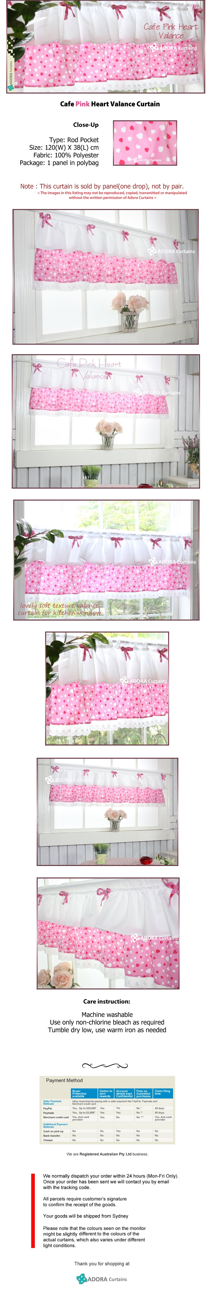 Cafe Pink Heart Valance
