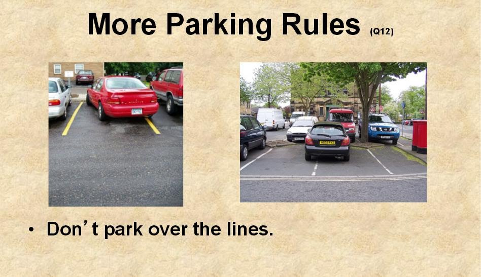 driving test parallel parking rules texas
