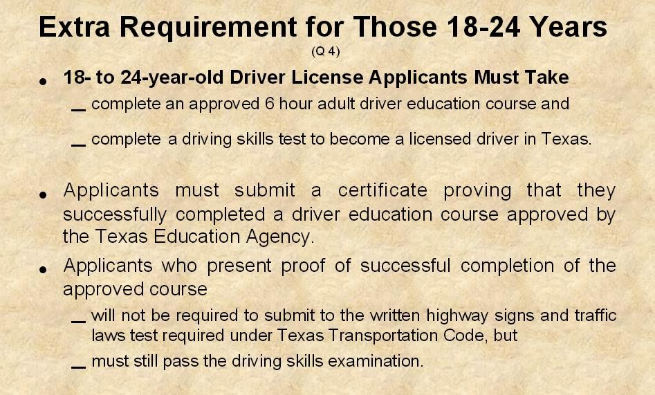 Texas Drivers License Requirements For 18 Year Olds >> Impact Texas Young Adult Drivers Ed: How to Get Driver ...