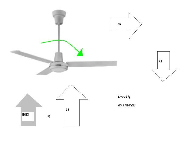 Ceilingfan ae390assignment5 household ceiling fans are made with a switch that will reverse the direction the air flows off the individual fan blades this will raise air up from the mozeypictures Images