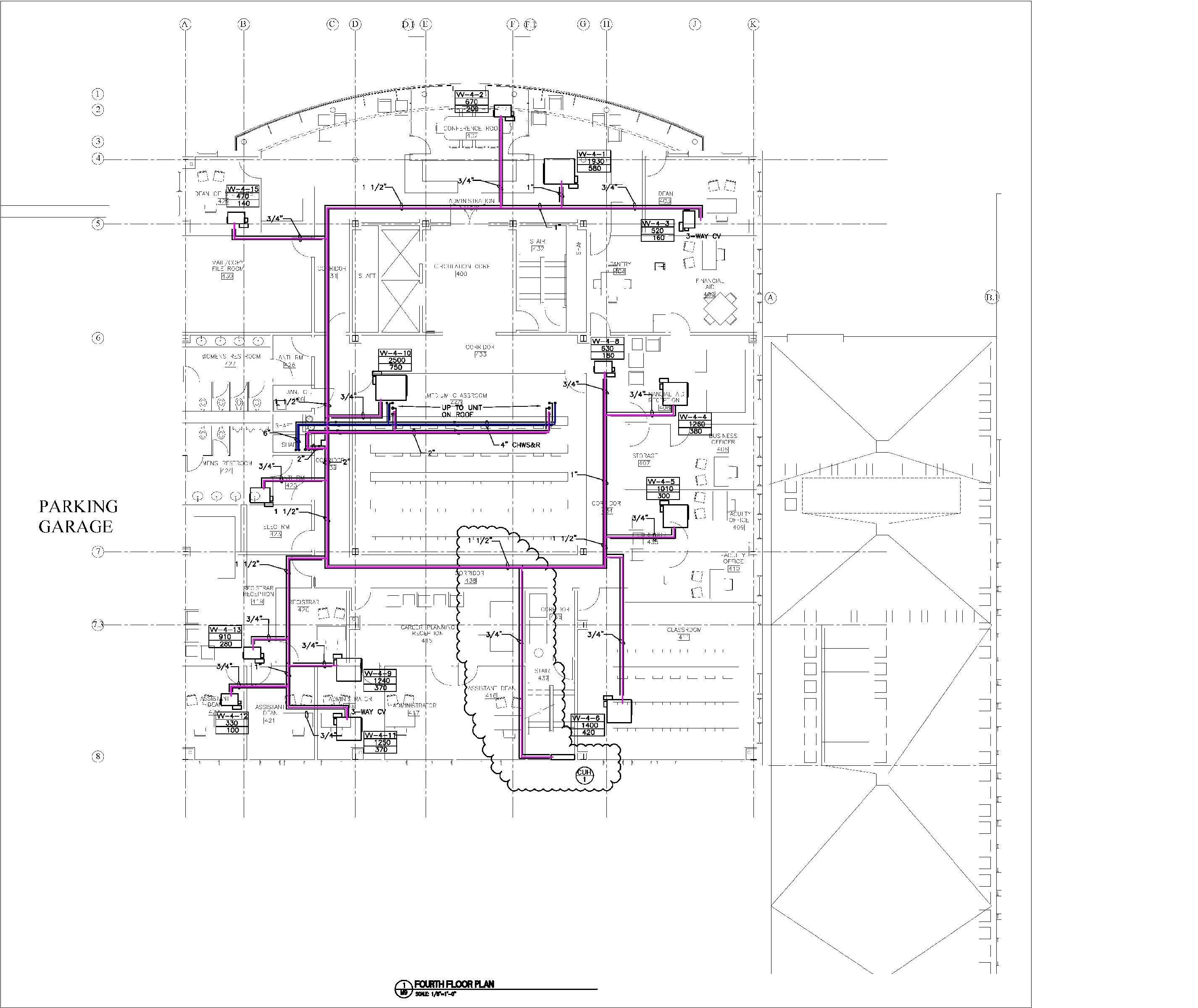 Floorplan2 Hvac Plumbing Drawing Gsb Building Hagerty Library Law School First Floor Second Third And Fourth