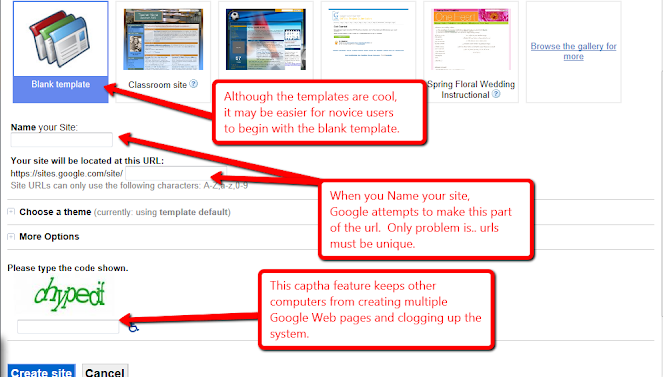 Step 2 Name Your Site And Choose A Cool Template Or Blank To Customize
