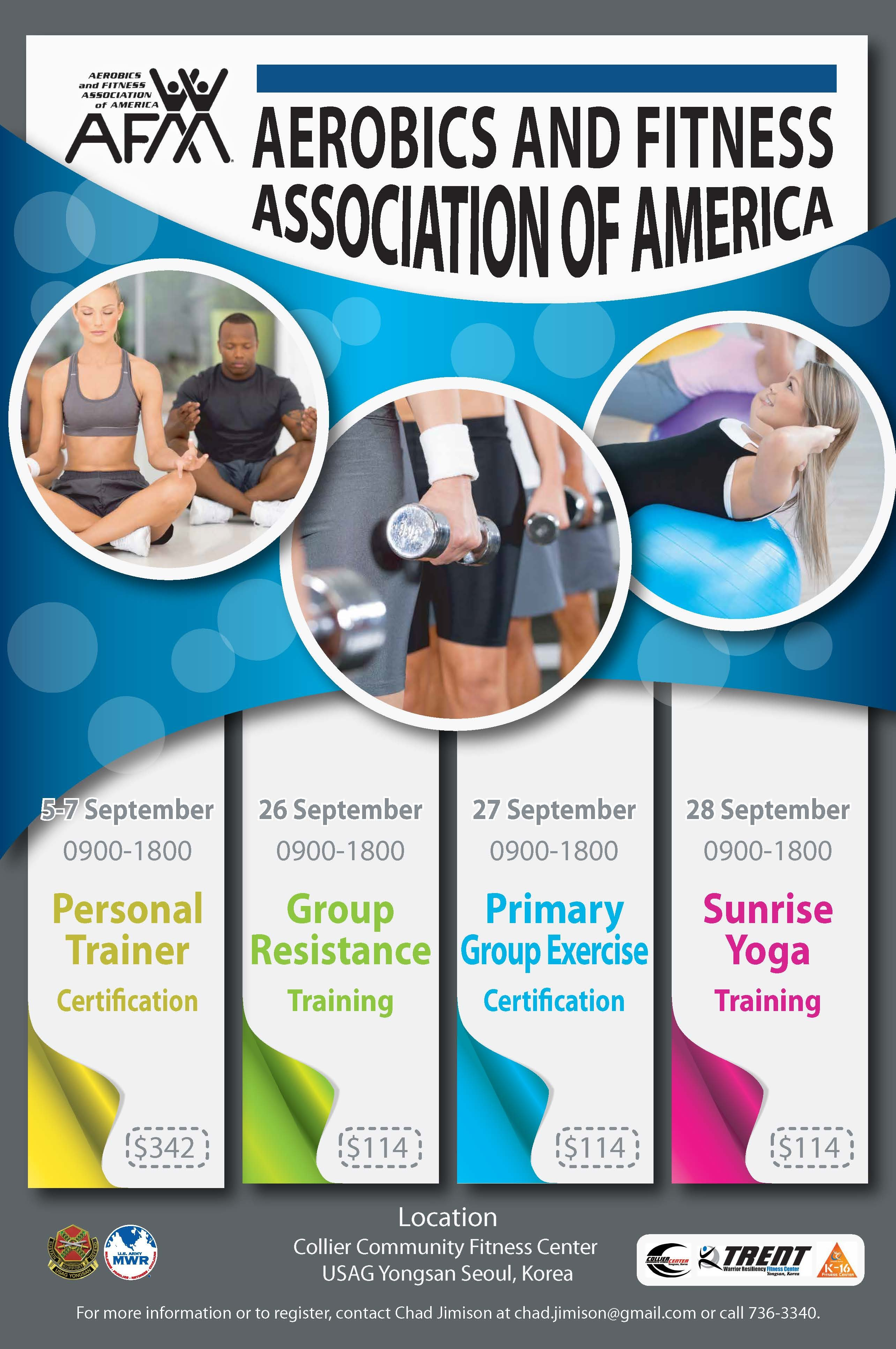 Group Fitness Courses Certification Afaa Apex Korea