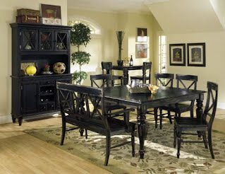 black dining table set Ashford   rustic black dining table set   Andrew's Furniture  black dining table set