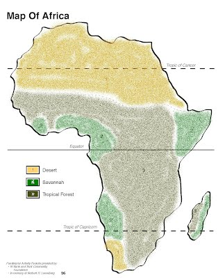 Map of Africa   Africa Research