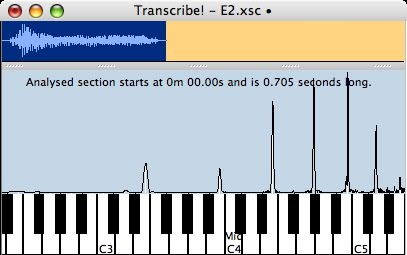 Piano piano chords e7 : Spectrum analysis primer - A Hard Day's Night Chord