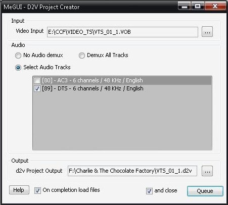 Converting DVD to AVI/MP4/MKV using MeGUI - aiodvdripping