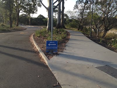 Cyclists must use Diggers Drive