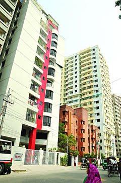 Apartment Blocks in Dhaka