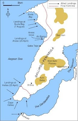 Map of Gallipoli   A Letter to Life
