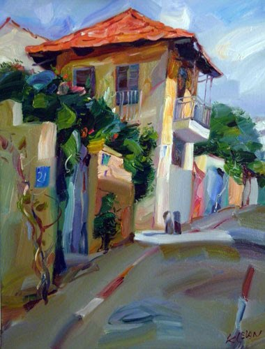 Neve Tsedek Morning oil on canvas Alexander Klevan