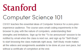 Course: Stanford CS 101 - Engineering & Computerized Graphic design