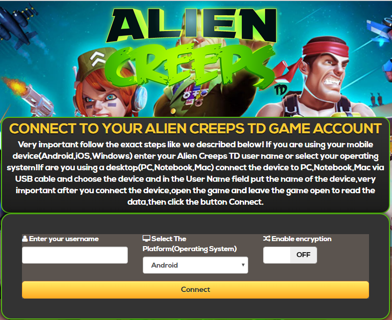 Alien Creeps TD Hack Features: