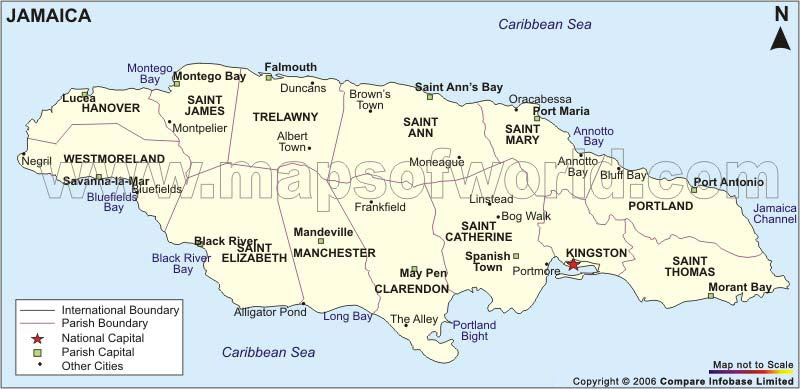 Jamaica Parishes Their Capitals And Landmark Attractions - induced.info