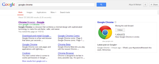 Google Chrome - Aliya Al Mehairi
