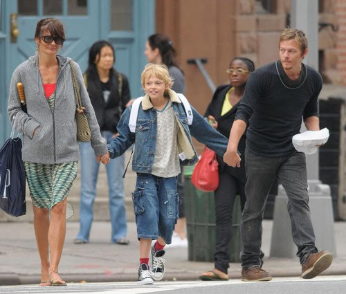 norman with his ex wife and his son