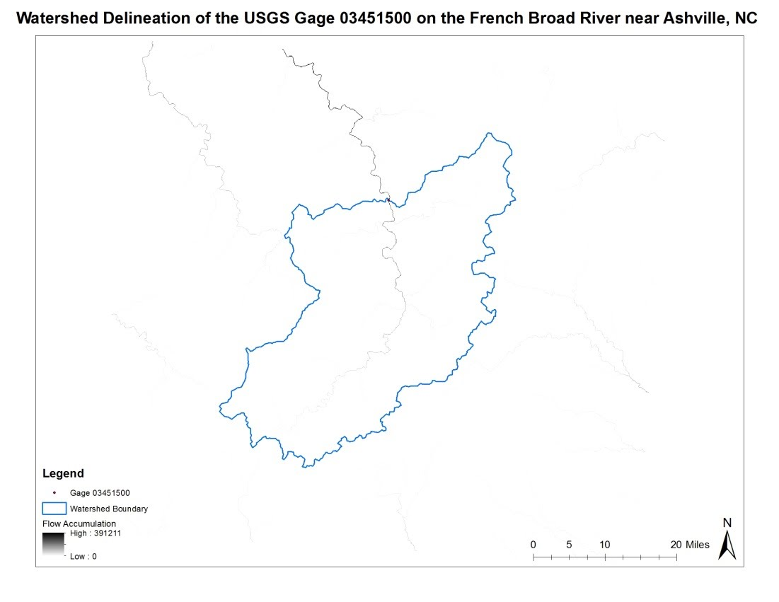 Watershed Analysis of the French Broad River - Alicia Leftwich\'s GIS ...