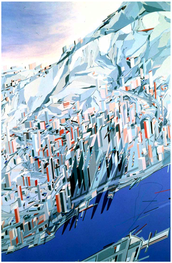 the Peak - Zaha Hadid Project: Painting as Building