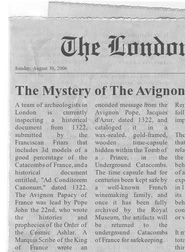 the avignon papacy, the history and prophecies of the order of the cosmic ashlar.