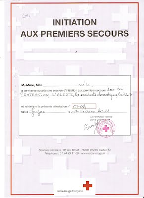 diplome 1er secours croix rouge