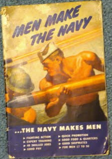 """WWII Recruitment Booklet """"Men Make The Navy...The Navy Makes Men"""" P1000921"""