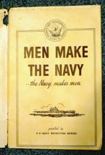 """WWII Recruitment Booklet """"Men Make The Navy...The Navy Makes Men"""" P1000922"""