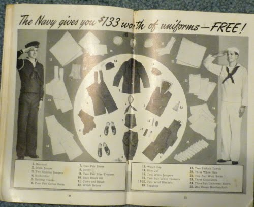 """WWII Recruitment Booklet """"Men Make The Navy...The Navy Makes Men"""" P1000923"""