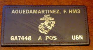 US Navy Corpsman Flight Suit Tag P1050474