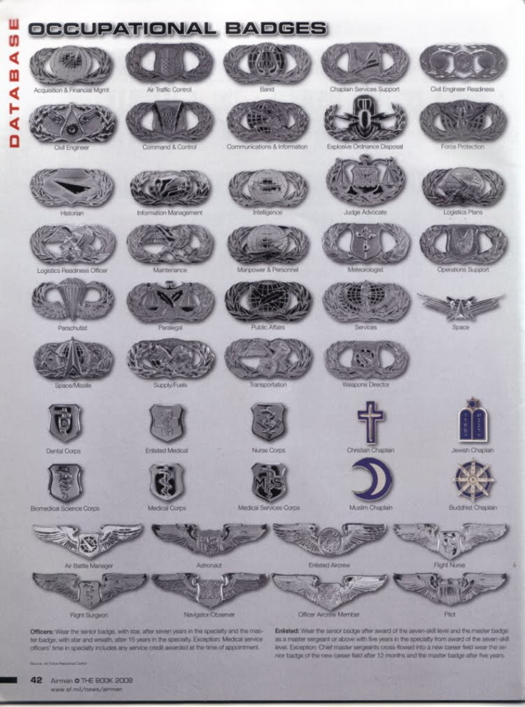 Opinions On Badges Of The United States Air Force - Air-force-occupational-badges