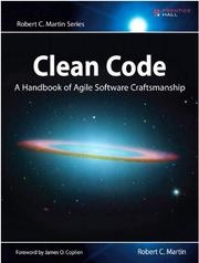 Book cover for Clean Code by Robert C. Martin