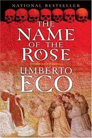 Book cover for The Name of the Rose by Umberto Eco