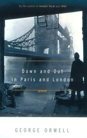 Book cover for Down and Out in Paris and London by George Orwell