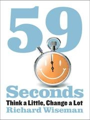 Book cover for 59 Seconds by Richard Wiseman