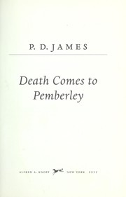 Book cover for Death Comes to Pemberley by P.D. James