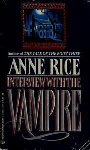 Book cover for Interview with the Vampire by Anne Rice
