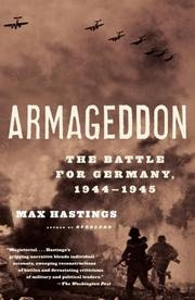 Book cover for Armageddon by Max Hastings