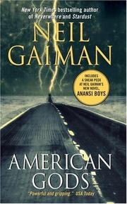 Book cover for American Gods by Neil Gaiman