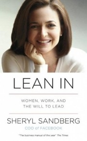 Book cover for Lean In by Sheryl Sandberg