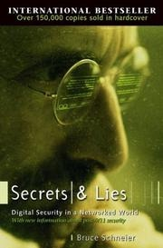 Book cover for Secrets and Lies by Bruce Schneier