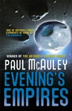 Book cover for Evening's Empires by Paul McAuley