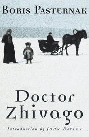 Book cover for Doctor Zhivago by Boris Pasternak